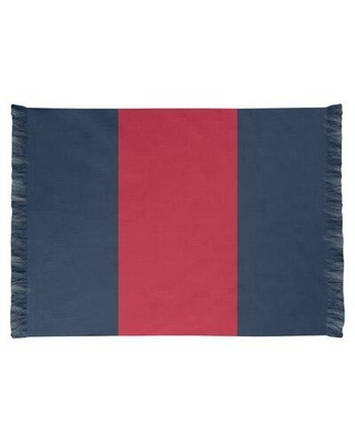 East Urban Home Tennessee Red Football Dark Blue Area Rug FCJK0559 Backing: No