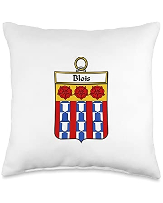 Family Crest and Coat of Arms clothes and gifts Blois Coat of Arms - Family Crest Throw Pillow, 16x16, Multicolor