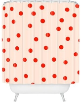 Brayden Studio Catron Vintage Dots Shower Curtain BRSD9397