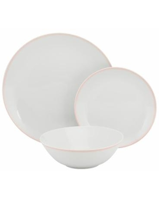 10 Strawberry Street Simply Coupe 24-pc. Dinnerware Set, Pink, 24 PC