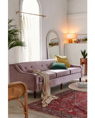 Milly Velvet Sofa Lavender At Urban Outers