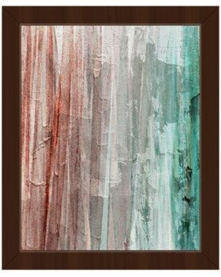 """Click Wall Art Spectrum Nautica Framed Painting Print on Canvas CBS0002354FRA Frame Color: Espresso Size: 26.5"""" H x 22.5"""" W x 1"""" D"""