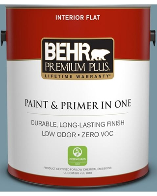 BEHR Premium Plus 1 gal. #530F-5 Waterscape Flat Low Odor Interior Paint and Primer in One
