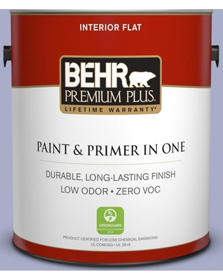 BEHR Premium Plus 1 gal. #S540-3 Meadow Phlox Flat Low Odor Interior Paint and Primer in One