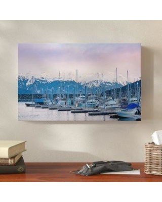 "Millwood Pines 'Harbor in Haines' Graphic Art Print on Wrapped Canvas MLWP5215 Size: 30"" H x 47"" W x 2"" D"
