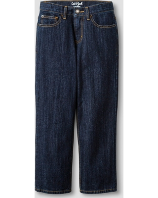 Boys' Relaxed Straight Fit Jean - Cat & Jack Dark Wash 10 Slim, Blue