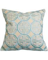 Rightside Design Modern Embroidered Medallion Throw Pillow Modmed Color: Beige/Blue