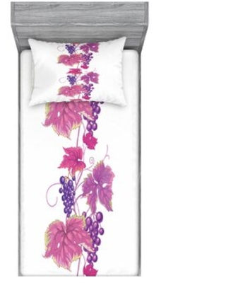 Vibrant Twiggy Branch with Berries Leaves Plants Trees Wild Habitat Floral Sheet Set East Urban Home