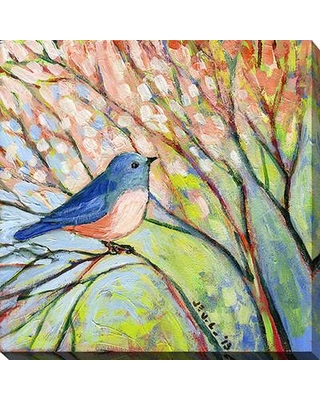 """Picture Perfect International """"Bird"""" by Jennifer Lommers Painting Print on Wrapped Canvas 704-0941 Size: 36"""" H x 36"""" W x 1.5"""" D"""