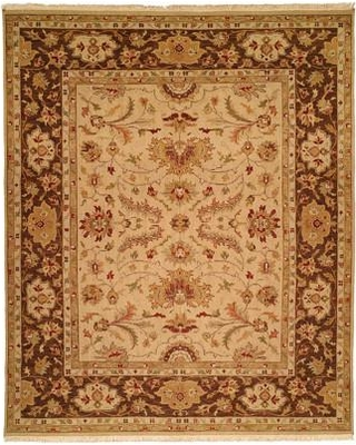 Meridian Rugmakers Hand-Knotted Brown Area Rug MRDN2593 Rug Size: Rectangle 2' x 3'