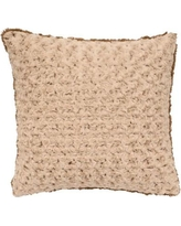 Wooded River Bella Rosebud Faux Fur Throw Pillow WD90051