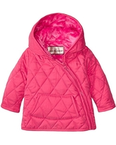Widgeon Baby Nylon Quilted Hooded Asymmetrical Jacket, Qpn/Pink, 12 Months