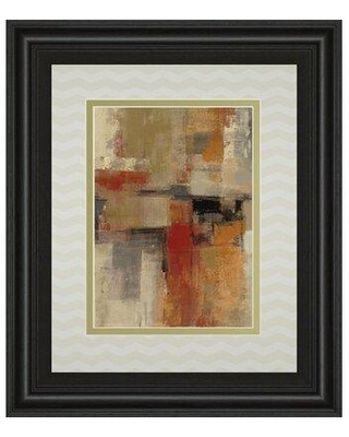 """Classy Art Wholesalers Intersection Crop I by Sylvia Vassileva Framed Painting Print in Red/Orange, Size Large 33""""-40"""" Oversized 41""""+ 