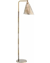 Jamie Young Vilhelm Antique Silver and Brass Floor Lamp