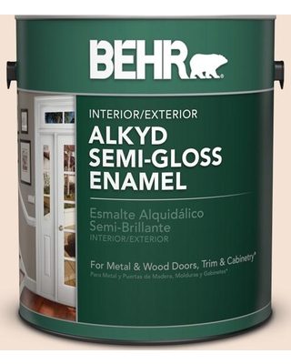 BEHR 1 gal. #270E-1 Orange Confection Urethane Alkyd Semi-Gloss Enamel Interior/Exterior Paint