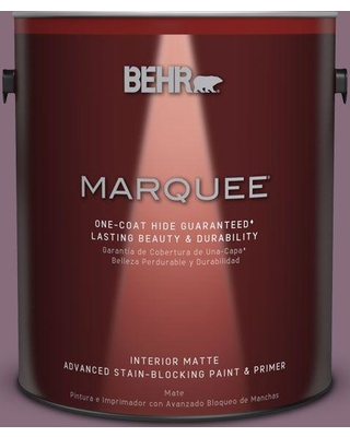 BEHR MARQUEE 1 gal. #S110-6 Plum Royale One-Coat Hide Matte Interior Paint and Primer in One