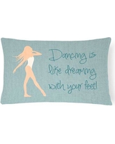 Zoomie Kids Allyssa Dancing is Like Dreaming Lumbar Pillow ZMIE3364 Pillow Cover Color: Cream