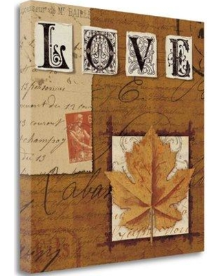 Tangletown Fine Art 'Natures Journal - Love' by Wild Apple Portfolio Graphic Art on Wrapped Canvas WA604526-2020c