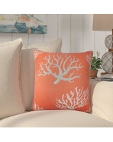 Rosecliff Heights Martinique Coastal Cotton Throw Pillow ROHE7712 Color: Pink