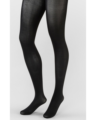 Women's 50D Opaque Control Top Tights - A New Day Black 1X/2X, Size: 1XL/2XL