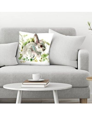 "East Urban Home Suren Nersisyan Bunny Throw Pillow EBIB9393 Size: 20"" x 20"""