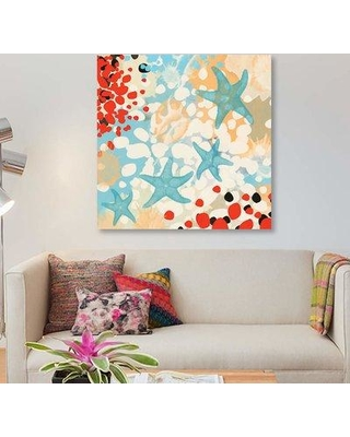 """East Urban Home 'Exotic Sea Life I' Graphic Art Print on Canvas EBHT2286 Size: 26"""" H x 26"""" W x 1.5"""" D"""