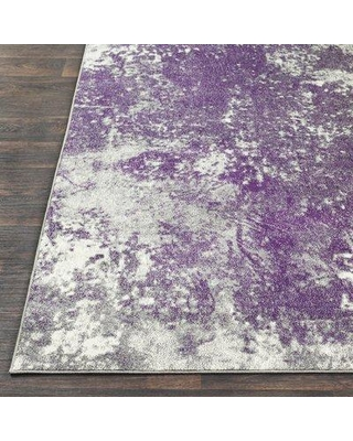 Get This Deal On 17 Stories Alexy Abstract Medium Gray Dark Purple Area Rug Polypropylene In Purple Gray Silver Size Rectangle 5 2 X 7 6 Wayfair
