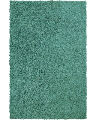 St Croix Trading Company Aqua Shag Chenille Twist 1 ft. 9 in. x 2 ft. 10 in. Accent Rug, Blue
