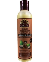 OKAY | Black Jamaican Castor Oil | Leave In Conditioner All Hair Types/Textures | Repair, Moisturize, Grow Healthy Hair | With Argan Oil & Shea Butter | Free Of Parabens, Silicones, Sulfates | 8 Oz