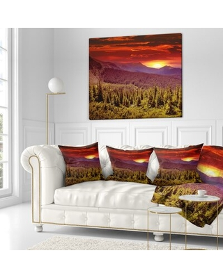 New Deal On Landscape Photography Sunrise Over Mountains Lumbar Pillow East Urban Home Size 18 X 18 Product Type Throw Pillow