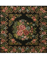 Deals For Bloomsbury Market Willian Traditional Black Green Red Area Rug Wool Polyester In Green Black Size Round 4 Wayfair