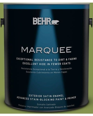 BEHR MARQUEE 1 gal. #M350-6 Frog Satin Enamel Exterior Paint and Primer in One