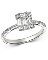 Bloomingdale's Diamond Baguette Mosaic Engagement Ring in 14K White Gold, 0.75 ct. t.w. - 100% Exclusive