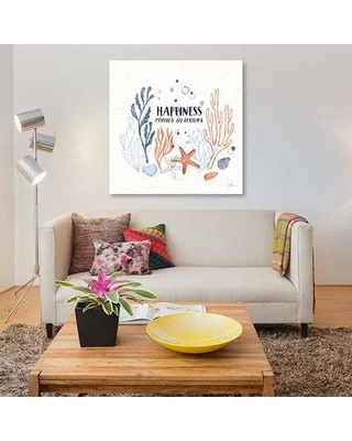"""East Urban Home 'Simple Sea I' By Janelle Penner Graphic Art Print on Wrapped Canvas ETRC6976 Size: 18"""" H x 18"""" W x 0.75"""" D"""