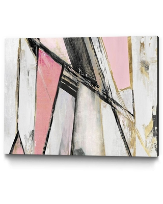 Amazing Deal On Clicart 14 In X 11 In Warm Geometric I Blush Version By Pi Studio Wall Art Grey Pink
