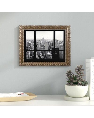 """Latitude Run View of New York City Framed Photographic Print LTRN8370 Size: 11"""" H x 14"""" W x 0.5"""" D"""