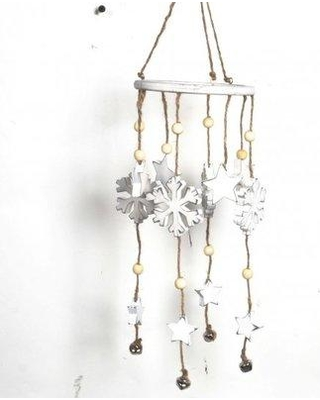 The Holiday Aisle® Wooden Snowflake Windbell Holiday Shaped Ornament UIEB7592