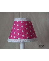"Silly Bear Delightful Dots 11"" Fabric Empire Lamp Shade LS-206 / LS-208 Shade Color: Pink"