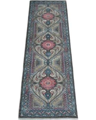 World Menagerie Creager Blue Area Rug W000249204 Rug Size: Runner 2'6'' x 9'10''