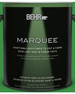 BEHR MARQUEE 1 gal. #440B-7 Par Four Green Semi-Gloss Enamel Exterior Paint and Primer in One