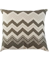 The Well Dressed Bed Zazzle Accent Throw Pillow TP-ZA101 Color: Gray