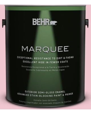 BEHR MARQUEE 1 gal. #P140-2 Sweetheart Semi-Gloss Enamel Exterior Paint and Primer in One
