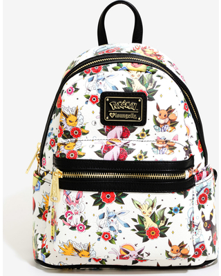 b0da936f7bf9 Great Deal on Loungefly Pokemon Eevee Tattoo Print Mini Backpack