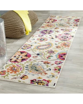 """Bungalow Rose Ivory Area Rug Rug Size: Runner 2'2"""" x 14'"""