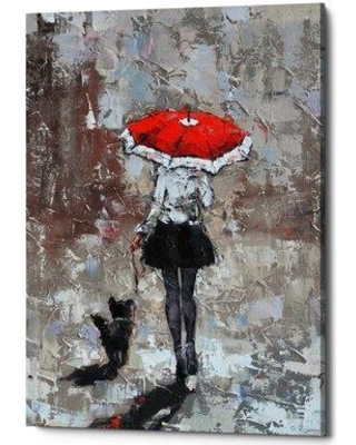 "Winston Porter 'An Urban Autumn' Oil Painting Print on Wrapped Canvas BI069481 Size: 40"" H x 26"" W x 1.25"" D"