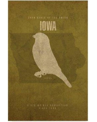 """Wrought Studio 'State Animal Iowa' Graphic Art Print on Wrapped Canvas WRSD2261 Size: 19"""" H x 12"""" W x 2"""" D"""