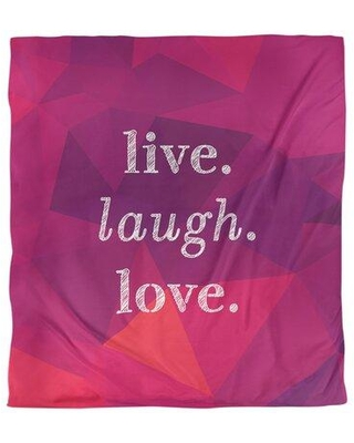 Shop Deals For East Urban Home Quotes Faux Gemstone Live Laugh Love Single Reversible Duvet Cover Polyester In Rubellite Size Queen Duvet Cover Wayfair