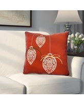 "Alcott Hill Decorative Holiday Geometric Print Throw Pillow ALCT6160 Size: 18"" H x 18"" W, Color: Red"