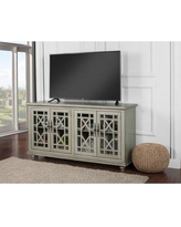 """Rosecliff Heights Mainor TV Stand for TVs up to 70"""", Wood/Distressed Finish in Teal 