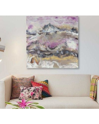 """East Urban Home 'Lavender Billows I' Acrylic Painting Print on Canvas EBHS6515 Size: 26"""" H x 26"""" W x 0.75"""" D"""